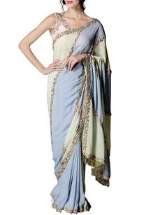 mint-green-purple-pink-color-blocked-embellished-sari