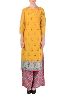 yellow-floral-printed-tunic-with-pink-blue-printed-palazzos