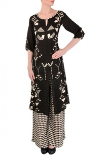 black-white-bird-printed-tunic-with-palazzos
