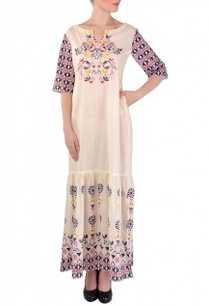 off-white-blue-geometric-bird-printed-dress