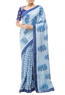 sky-blue-floral-printed-embroidered-sari