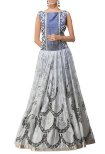 light-deep-grey-floral-printed-embroidered-maxi-dress
