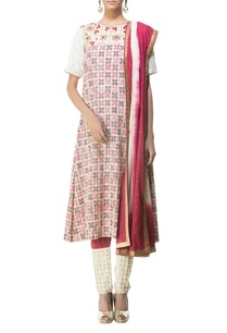 cream-red-black-printed-shaded-kurta-set