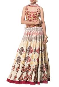 red-cream-motif-printed-maxi-dress-with-dupatta