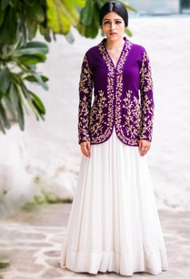 purple-floral-embroidered-jacket-with-ivory-gown