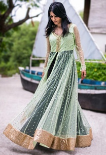 mint-embellished-jacket-with-black-gown