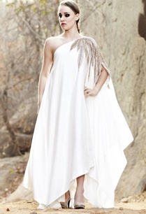 ivory-leaf-embellished-one-shoulder-dress