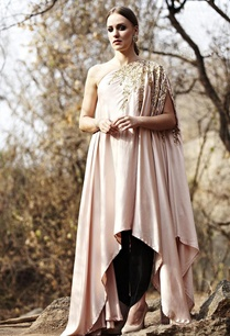 blush-pink-leaf-embroidered-tunic-withdhoti-pants