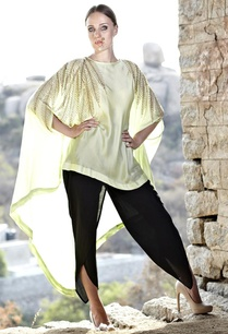 mint-leaf-embellished-cape-with-black-dhoti-pants