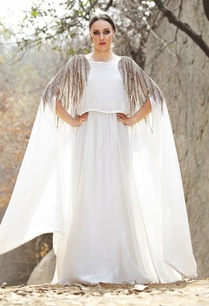 ivory-leaf-embellished-cape-gown