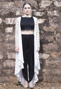 white-embellished-jacket-with-black-crop-top-dhoti-pants