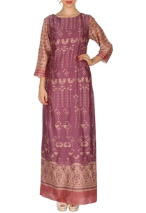 grape-wine-bird-printed-maxi-dress