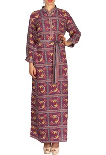 purple-bird-printed-maxi-dress