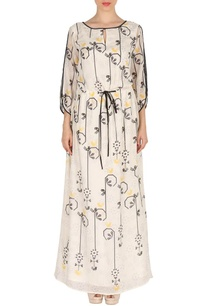 white-bird-print-maxi-dress