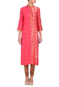 sorbet-pink-gold-floral-tunic