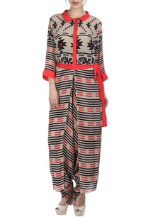 light-grey-pink-bird-printed-jumpsuit