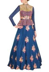 deep-blue-pink-floral-embroidered-lehenga-set