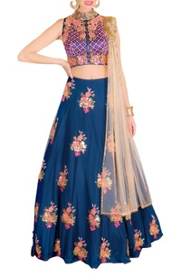 royal-blue-pink-floral-embroidered-lehenga-set