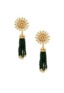 gold-plated-floral-kundan-green-stone-jhumkas