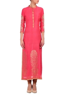 coral-pink-gold-floral-motif-tunic