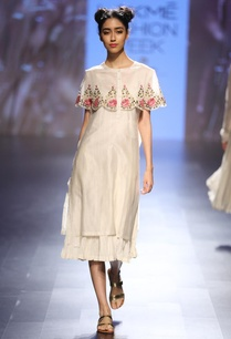 cream-floral-embroidered-short-cape-layered-dress