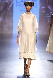 cream-floral-embroidered-high-neck-layered-dress
