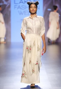 cream-shirt-with-floral-embroidered-skirt