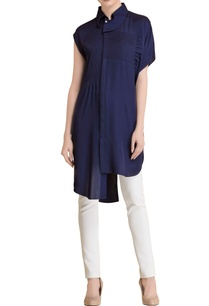 navy-blue-pleated-tunic