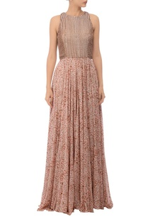 white-pink-brown-printed-embroidered-maxi-dress
