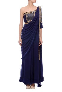 blue-embroidered-sari-gown