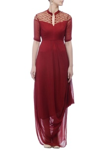 maroon-embellished-gown