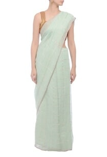 sea-green-grid-handwoven-sari