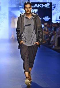 dark-grey-black-leather-hooded-jacket
