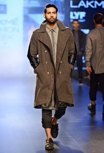 charcoal-grey-black-leather-trench-coat