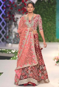 maroon-floral-beads-zardozi-and-sequins-work-lehenga-set