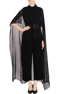black-embellished-cape-shirt-pant