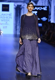 navy-blue-cape-kurta-with-a-printed-sharara