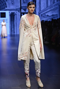 ivory-printed-pant-embellished-trench