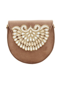 brown-japanese-beadwork-round-clutch