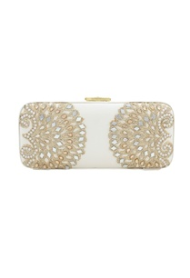 white-japanese-beadwork-box-clutch