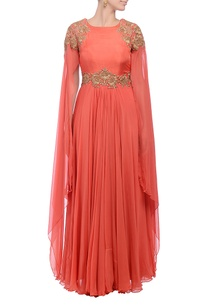 peach-gold-embroidered-dress