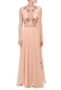 peach-pink-floral-embroidered-lehenga