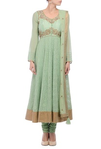 green-gold-embroidered-accent-anarkali