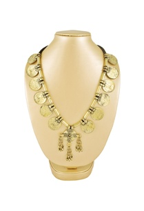 gold-black-finish-coin-necklace