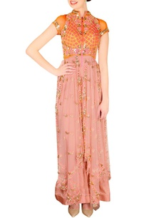 orange-pink-embellished-kurta-set