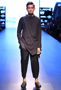black-grey-overlapped-kurta