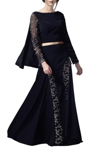 black-open-back-lehenga