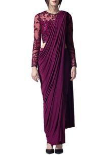 wine-draped-sari
