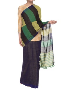 blue-striped-handwoven-sari