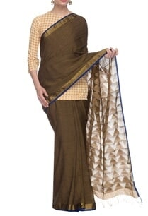 dusky-brown-handwoven-sari-with-golden-border